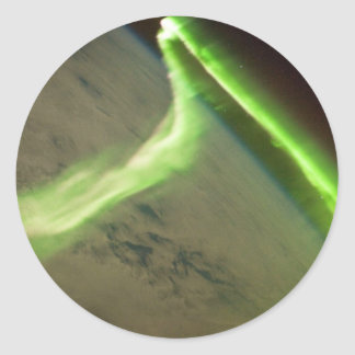 Aurora Australis from International Space Station Classic Round Sticker