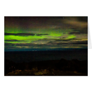 Aurora australis tarjeta pequeña