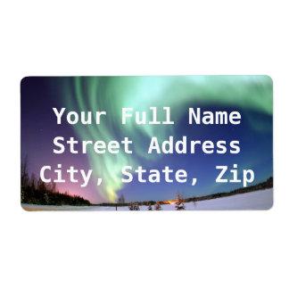 Aurora - Beautiful Northern Lights Shipping Label