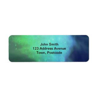 Aurora boreal/aurora Borealis Etiquetas De Remite