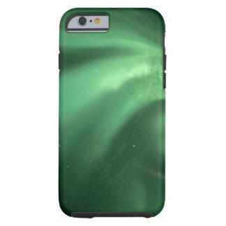 Aurora boreal, borealis de la aurora, sobre las funda de iPhone 6 tough