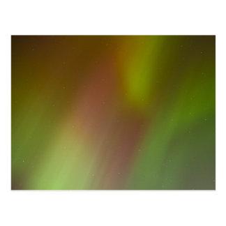 Aurora boreal colorida postal