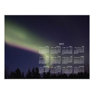 Aurora boreal con una raya de la púrpura 2013 fotografia