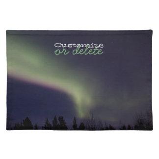 Aurora boreal con una raya de la púrpura; Personal Mantel