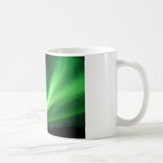 Aurora boreal de Borealis de la aurora Tazas De Café
