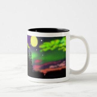 aurora boreal de los borealis de la aurora por S A Taza De Café