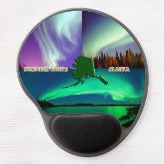 Aurora boreal del collage de Alaska Alfombrilla De Raton Con Gel