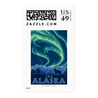 Aurora boreal - el Yukón, Alaska Sellos