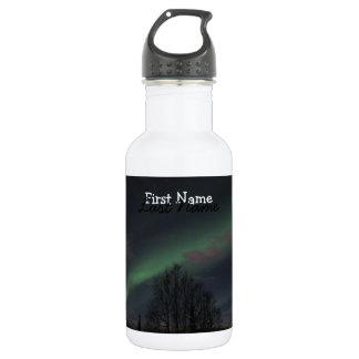 Aurora boreal en bosque boreal; Personalizable