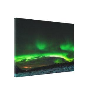 Aurora boreal en la impresión de la lona de Abisko Impresion En Lona