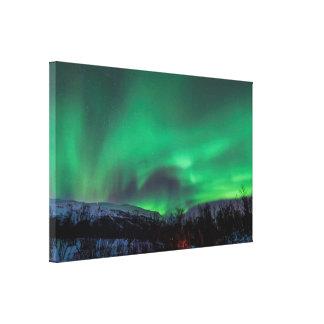 Aurora boreal en la impresión de la lona de Suecia Impresión En Lienzo Estirada