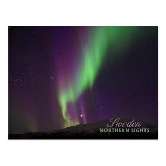 Aurora boreal en Lappland, Suecia Postal