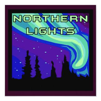 Aurora boreal invitación 13,3 cm x 13,3cm