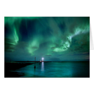 Aurora boreal Islandia Tarjeta De Felicitación