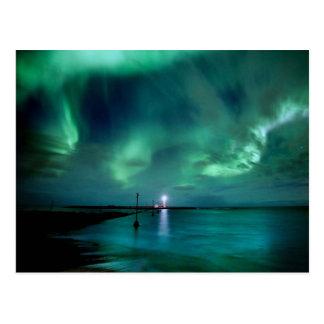 Aurora boreal Islandia Tarjeta Postal