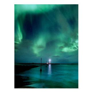 Aurora boreal Islandia Tarjetas Postales