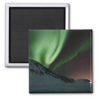Aurora boreal Noruega de la aurora Imán Cuadrado