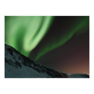 Aurora boreal Noruega de la aurora Invitación 13,9 X 19,0 Cm