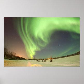 Aurora boreal impresiones