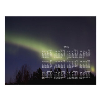 Aurora boreal pacífica Calendario 2013 Fotografia