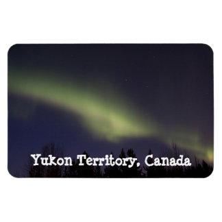 Aurora boreal pacífica; Recuerdo del Yukón Imanes Rectangulares