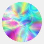 Aurora boreal pegatina redonda