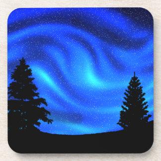 Aurora boreal posavasos de bebidas