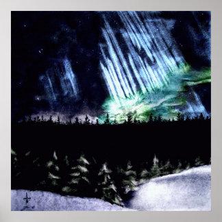 Aurora boreal póster