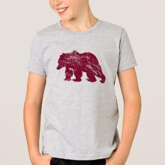 Aurora boreal resistida Kenai del oso de Brother Playera