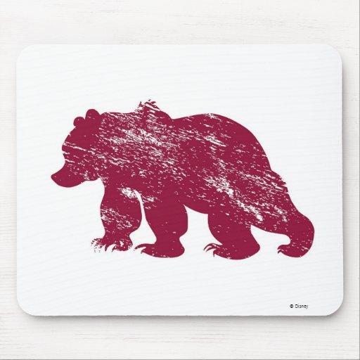 Aurora boreal resistida Kenai del oso de Brother Tapete De Ratones