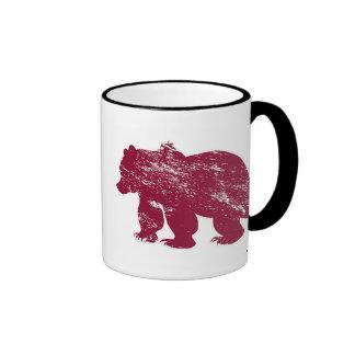 Aurora boreal resistida Kenai del oso de Brother Tazas De Café