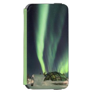Aurora boreal sobre Finlandia Funda Billetera Para iPhone 6 Watson