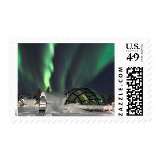 Aurora boreal sobre Finlandia Sellos