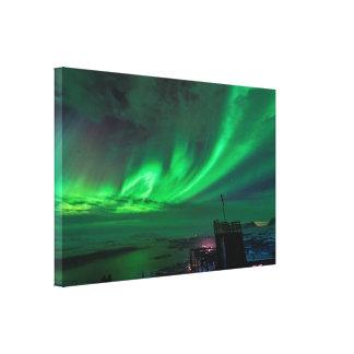 Aurora boreal sobre la impresión de la lona del Mt Impresion En Lona