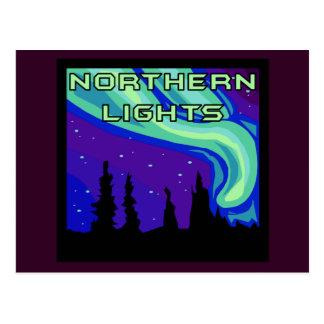 Aurora boreal tarjeta postal