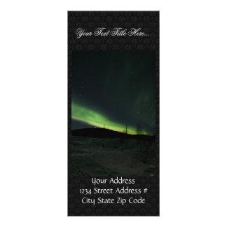 Aurora boreal tarjetas publicitarias a todo color