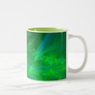 Aurora boreal taza de café