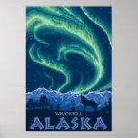 Aurora boreal - Wrangell, Alaska Poster