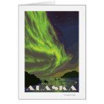 Aurora boreal y orcas - Anchorage, Alaska Tarjetas