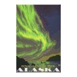 Aurora boreal y orcas - parque nacional de Denali, Lona Estirada Galerías