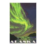 Aurora boreal y orcas - Seward, Alaska Lienzo Envuelto Para Galerías