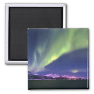 Aurora Borealis above Lyngenfjorden Norway 2 Inch Square Magnet
