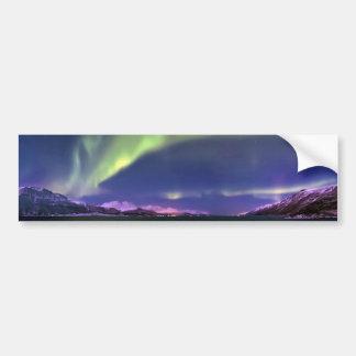 Aurora Borealis above Lyngenfjorden Norway Bumper Sticker