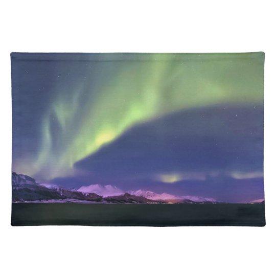 Aurora Borealis above Lyngenfjorden Norway Placemat