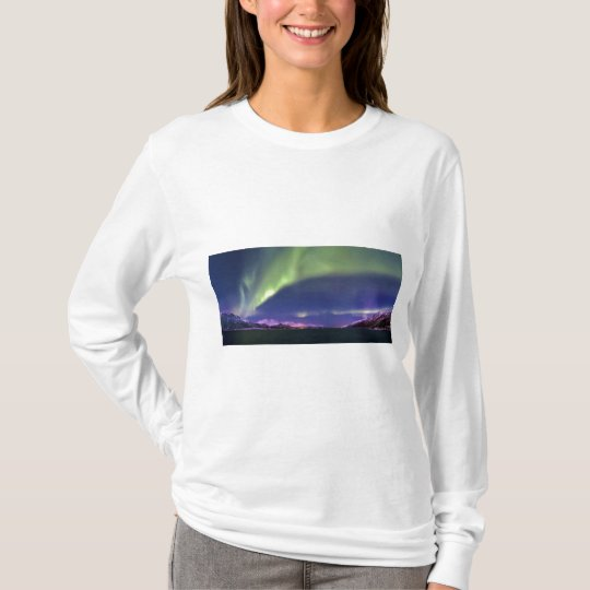 Aurora Borealis above Lyngenfjorden Norway T-Shirt