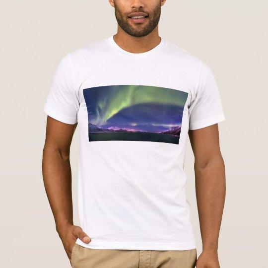 Aurora Borealis above Lyngenfjorden Norway T-Shirt