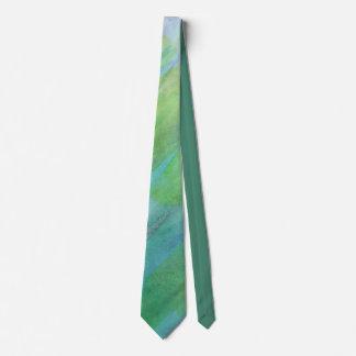 Aurora Borealis abstract watercolor Tie