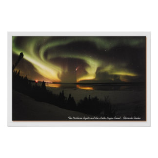 Aurora Borealis and Hale-Bopp Comet Poster