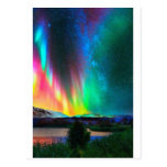 aurora Borealis art2 del arco iris Tarjeta Postal