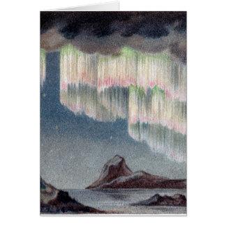 Aurora Borealis - aurora boreal del vintage Tarjeta De Felicitación